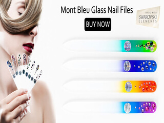 glass nail file adorned Swarovski Elements crystals